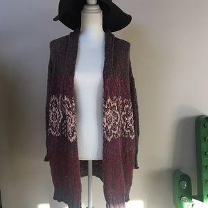 Urban Outfitters Ecote long knit boho cardigan XS